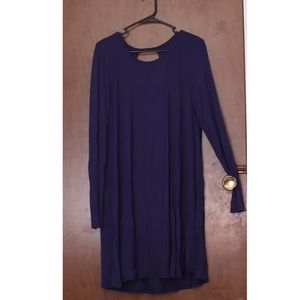 purple long sleeve charlotte russe dress